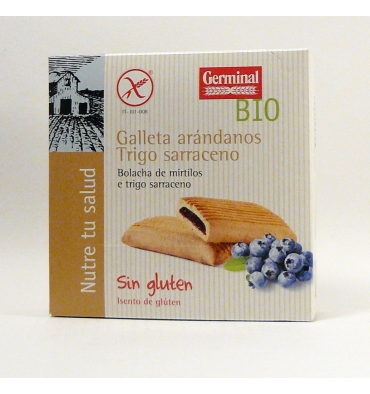 Germinal cracker di grano saraceno mirtillo Qbio 200 grammi.