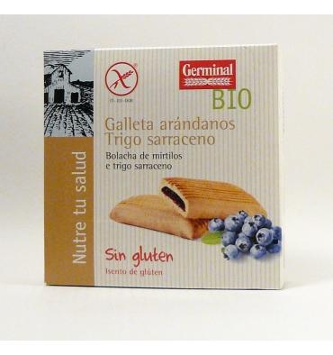 Germinal craquelins de sarrasin myrtille Qbio 200 grammes.