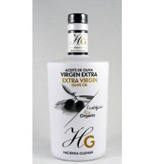 Oli oliva verge extra ecològic Hisenda de Guzmán 500 ml.