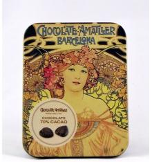 dünne Bleche aus Schokolade 70% Kakao Amatller 60g.