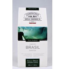 Dell'Arabica Brasil Santos coffee 250 grs.