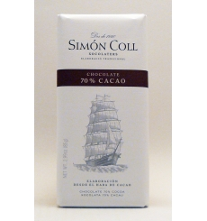 Chocolate 70% cacao Simón Coll 85gr