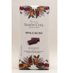 Chocolate 99% cacao Simon Coll 85 grams.
