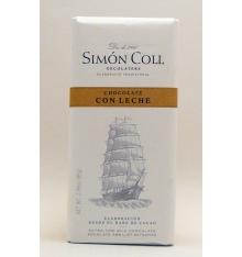 Simon Coll Chocolate de leite 85 gramas.