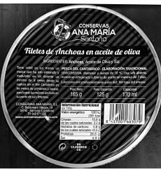 Acciughe in scatola Ana Maria Gold Series Tin 165 g.