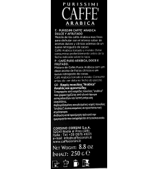 Dell'Arabica Purissimi Arabica Coffee 250 g.