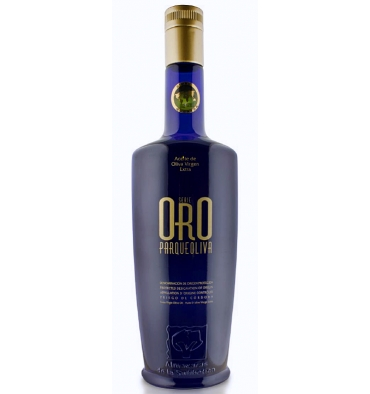 Huile d'olive extra vierge 500 ml Parqueoliva Gold Series.
