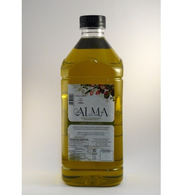 Extra vergine d'oliva decanter Almaoliva Grande Scelta 2 acceso.