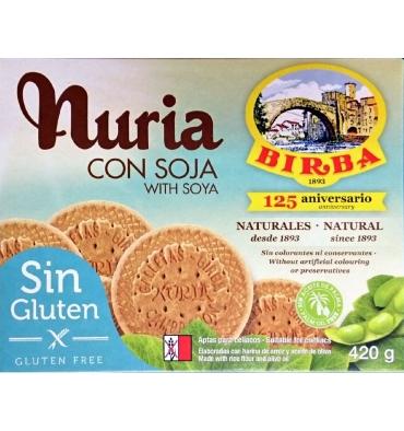 Biscoitos sem glúten com Soja Nuria Birba 420 gramas.