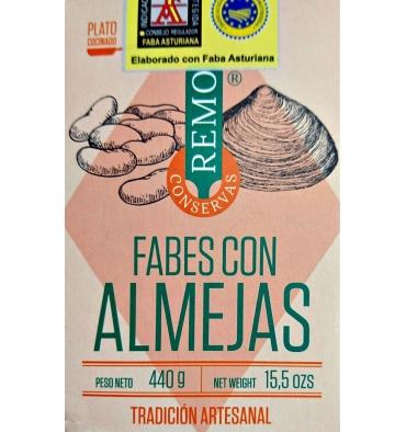 Les haricots en conserve aux palourdes Remo 425 grs.