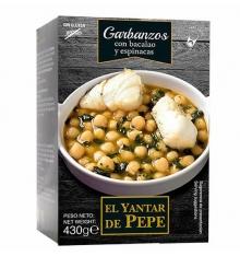 Grão de bico com bacalhau e espinafres El Yantar de Pepe 430 grs.