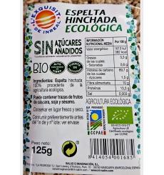Espelta hinchada ecológica L'exquisit de Inreal 125gr