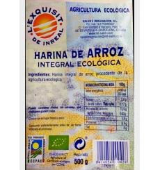 Harina de arroz integral ecológica L'exquisit de Inreal 500gr