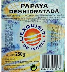 Papaya deshidratada L'exquisit de Inreal 250gr