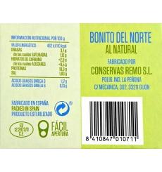 Canned Bonito natural Remo 190 grs.