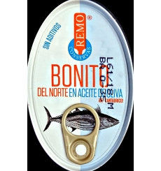 Thon à l'huile d'olive 111 g conserve Remo.