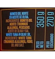 Bonito del norte en aceite de oliva Conservas Remo 350 grs.