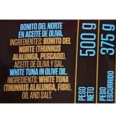 Bonito del norte en aceite de oliva Conservas Remo 500 grs.