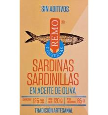 Sardinillas en aceite de oliva Conservas Remo 120 grs.