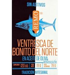 Ventresca tuna in olive oil 111 g Canned Remo.
