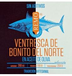 Ventresca tuna in olive oil 266 g Canned Remo.