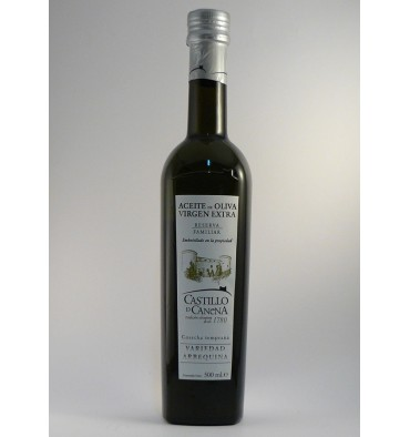 Huile d'olive extra vierge Canena Château Arbequina 500 ml.