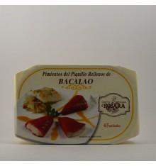 Poivrons piquillo farcis à la morue Rosara étain 250 grs.