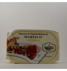 Pimientos del piquillo rellenos de marisco Rosara lata 250 grs.