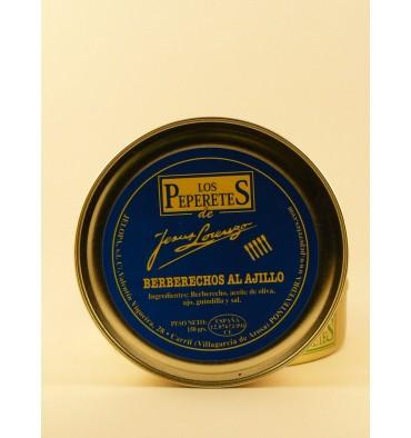 Berberechos al ajillo los Peperetes 150 grs.
