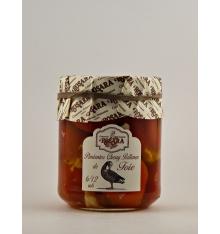 Kirschpaprika mit Foie Rosara 200 Gramm gefüllt.