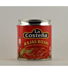 Rajas rojas de chiles jalapeños en escabeche La Costeña 220 grs.